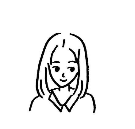 可爱简笔画小女孩头像高冷头像微信头像 微信头像 KanQQ个性网手机版